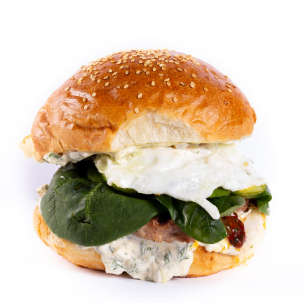 GREEN EGG BURGER